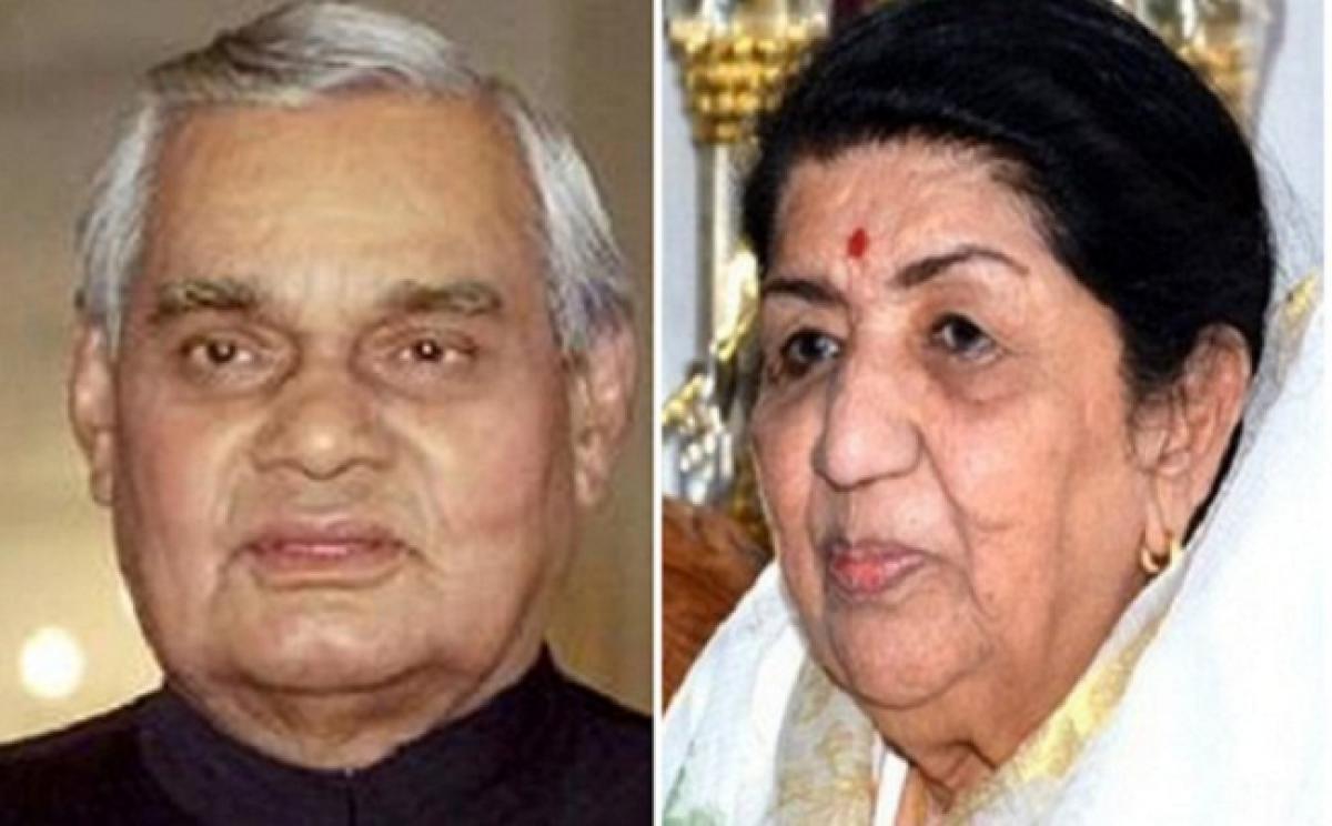 Lata Mangeshkar dedicates song to her Dadda Vajpayee