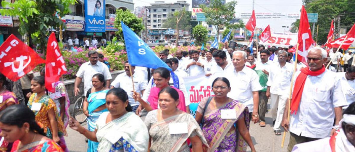 SC VERDICT ON SC, ST ACT Left, Dalit organisations stage protest