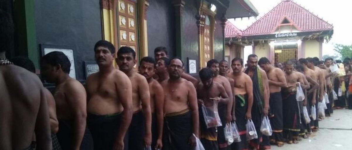 500 take Ayyappa Deeksha in Bhadrachalam