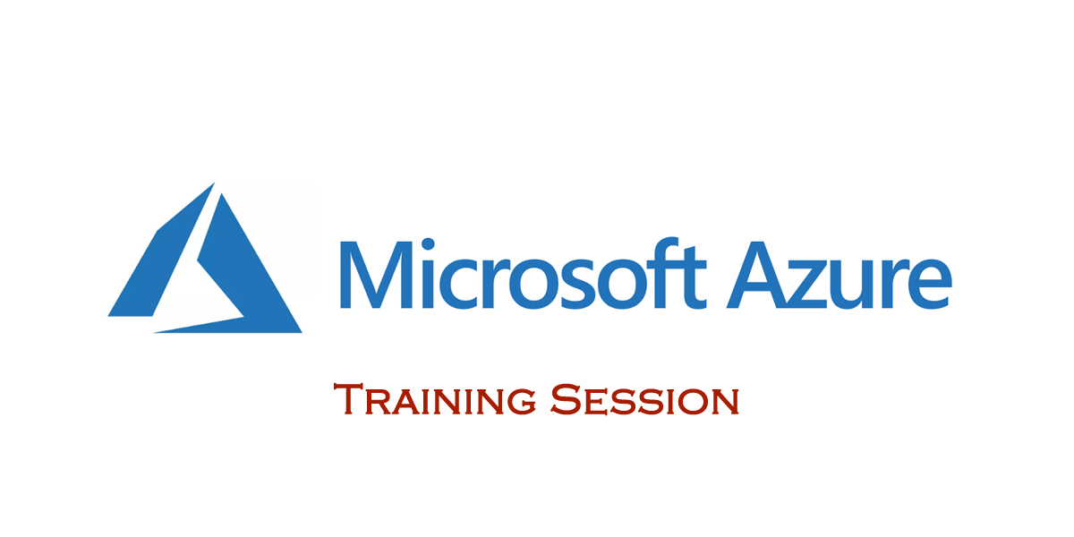 Training session on Azure from today in Vijayawada