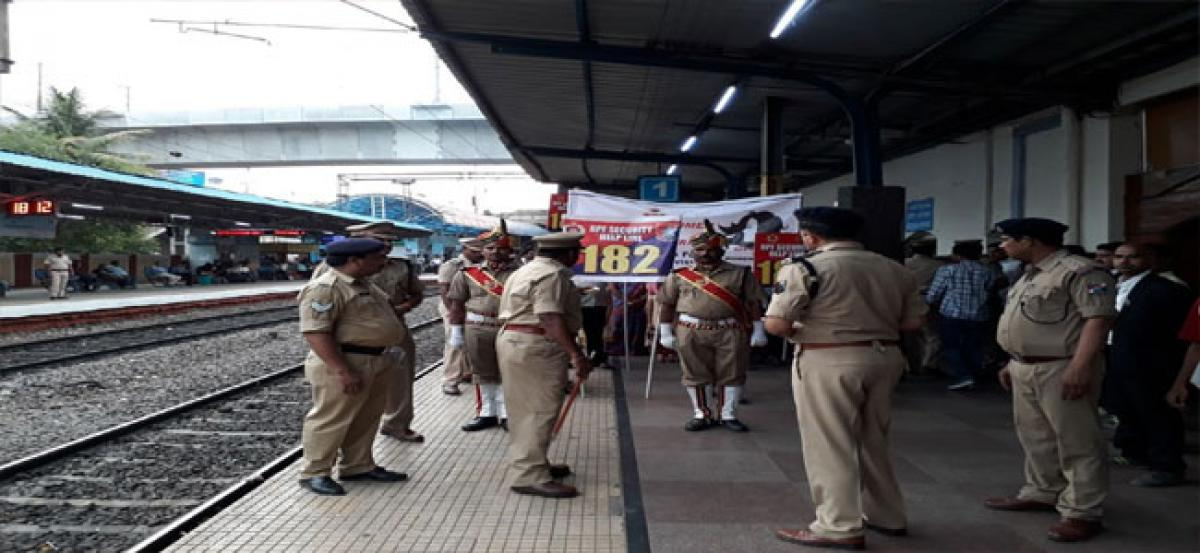 Women safety drive held at Begumpet