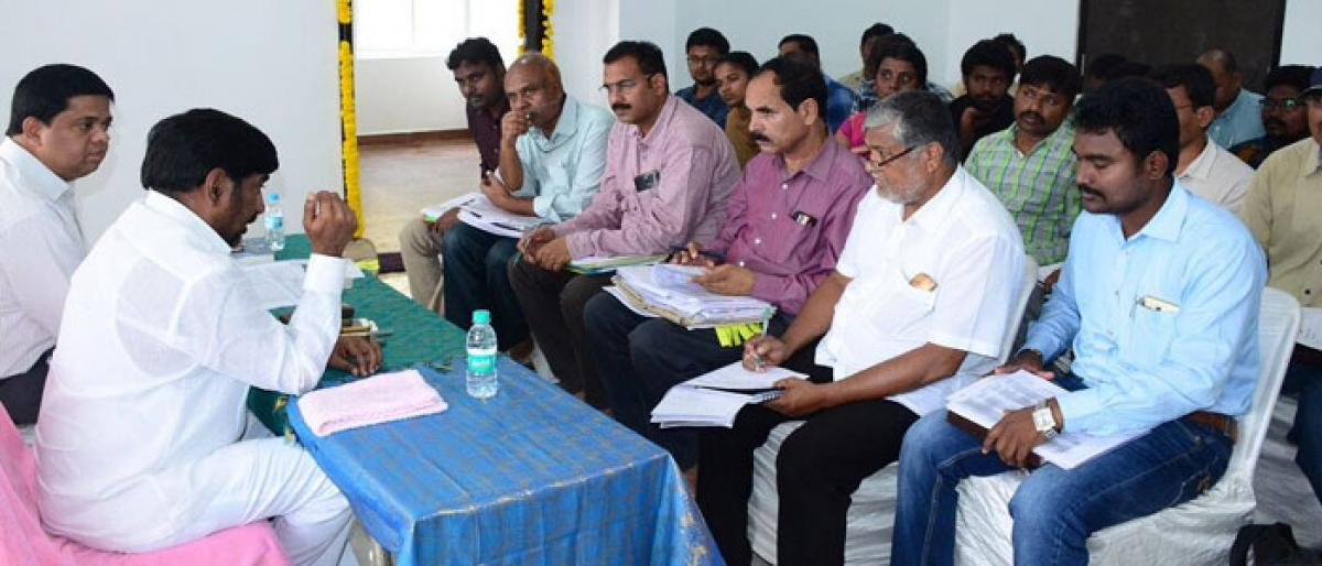 Officials told to complete Mission Bhagiratha works by month-end