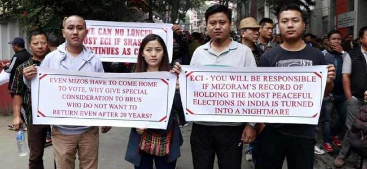 EC summons Mizoram poll officer amid protests seeking his removal