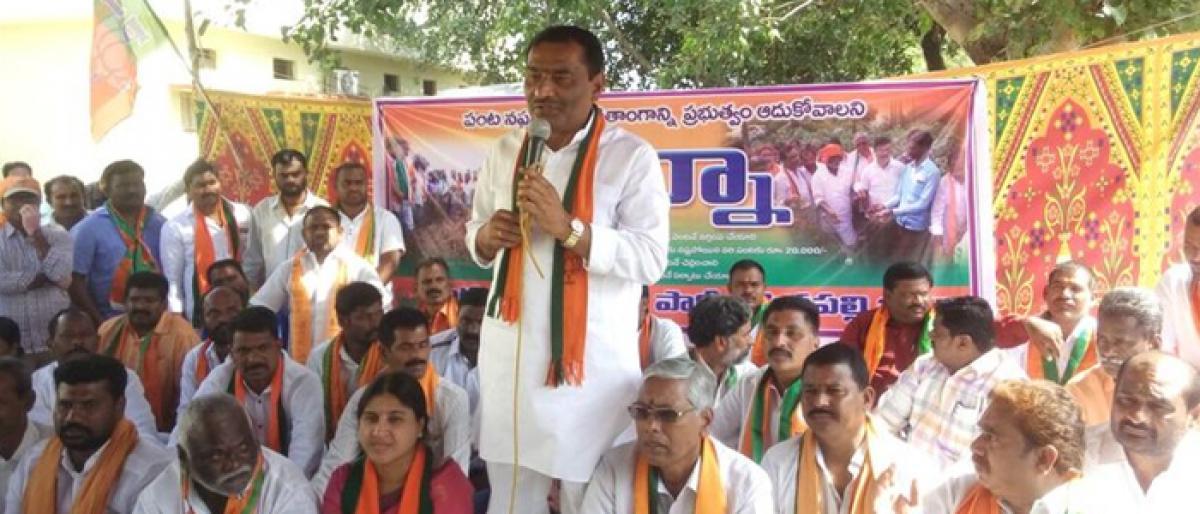BJP Kisan Morcha demands crop loss aid for farmers