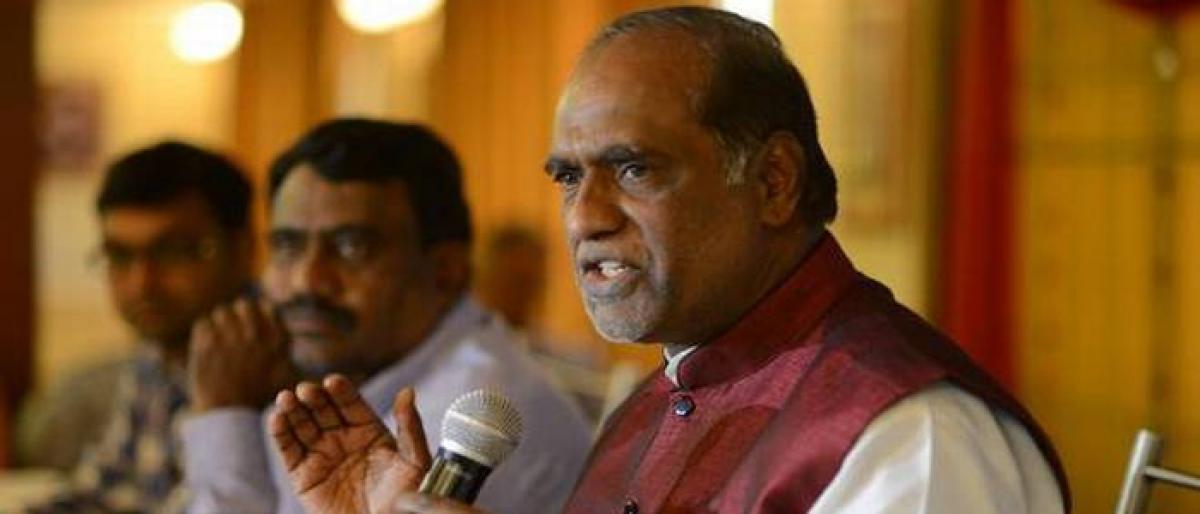 BJP promises to probe Mission Bhagiratha, Mission Kakatiya if given power: Dr K Laxman