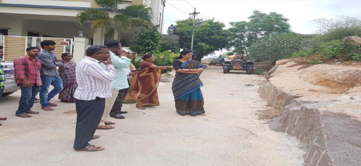 Corporator moots constructing footsteps for Peddagutta temple