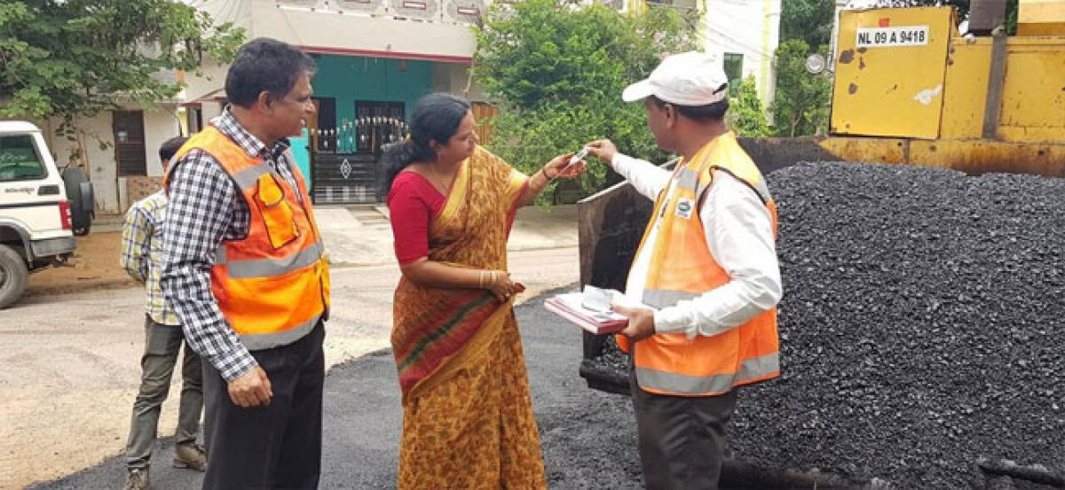 Complete road works on war-footing, Lakshmi to officials