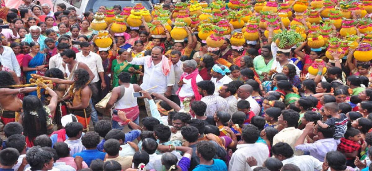 Beerappa bonalu celebrated with fervour