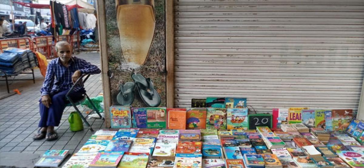 Footfalls at Abids book market waning