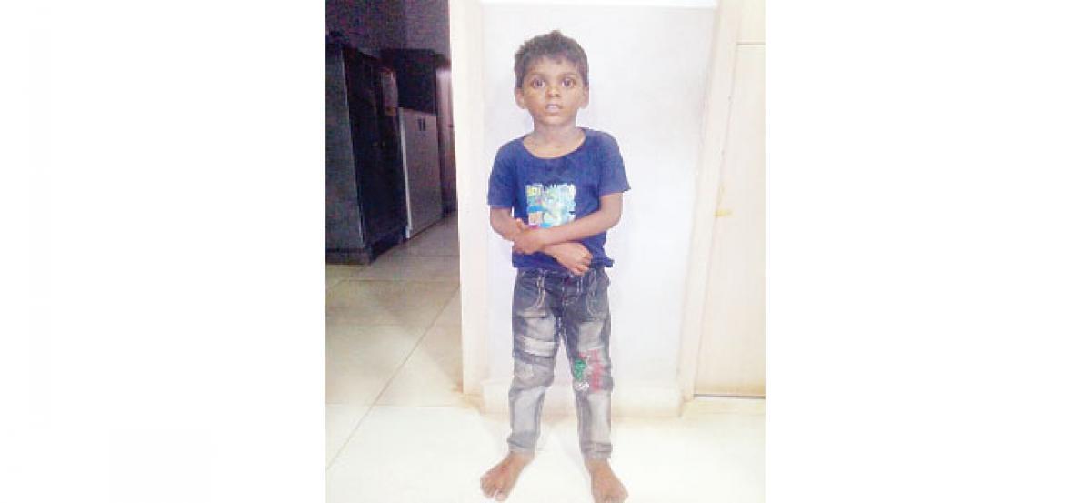 Missing boy found at Neredmet police station