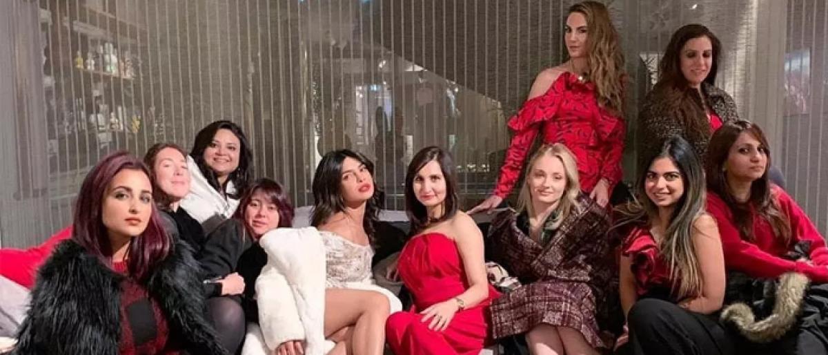 Priyanka celebrates bachelorette party with bride brigade