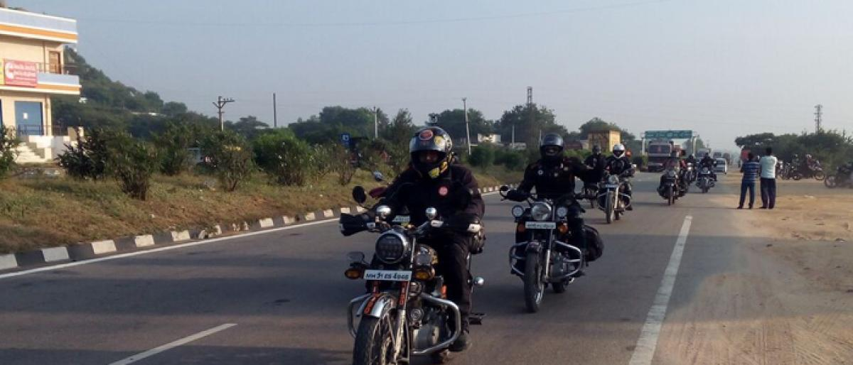 Bike Riding Yatra reaches Jadcherla