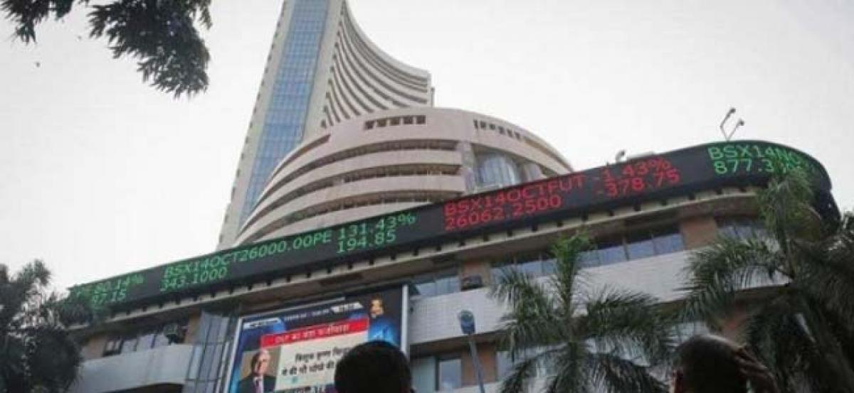 Sensex plunges over 400 points as rupee breaches 72.50 mark for first time