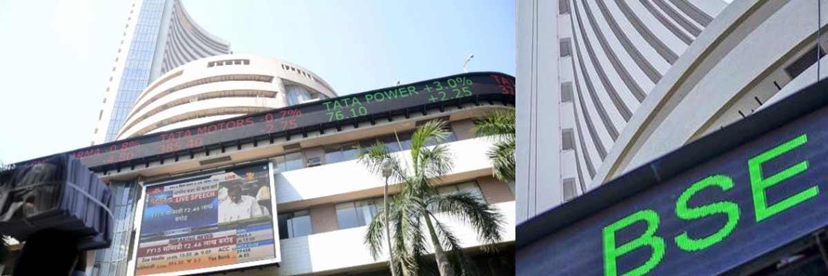 Sensex down 290 points; rupee slips to 72