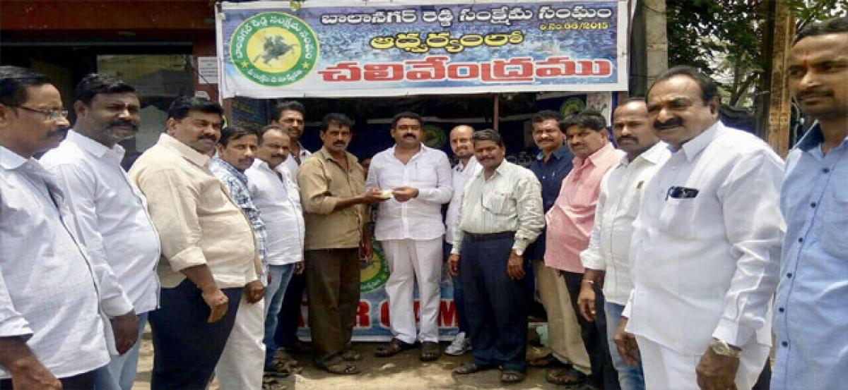 Butter milk packets distributed