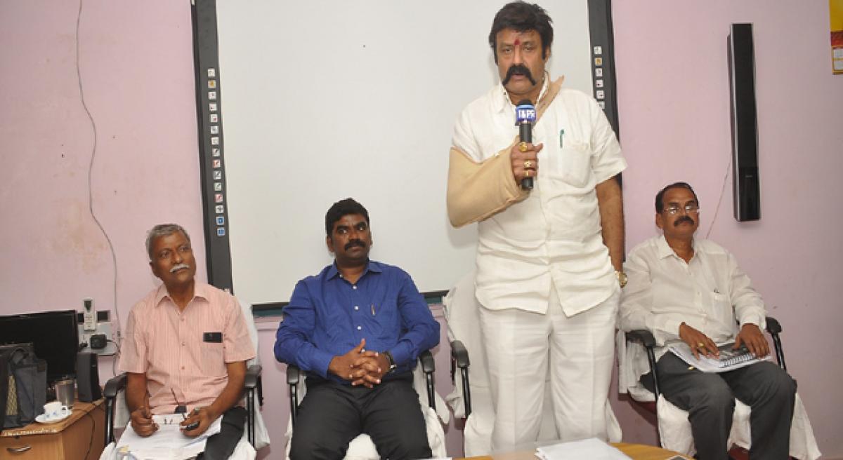 Balakrishna pats officials for realising NTR's dream