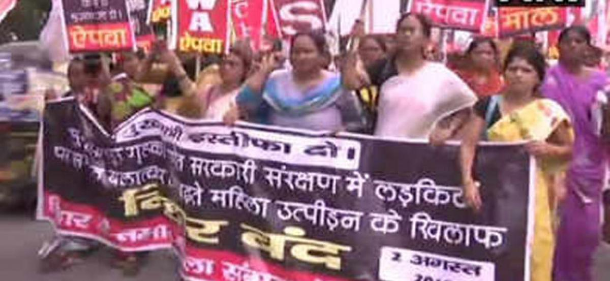 Protest against sexual abuse in Bihar leaves it's areas shook