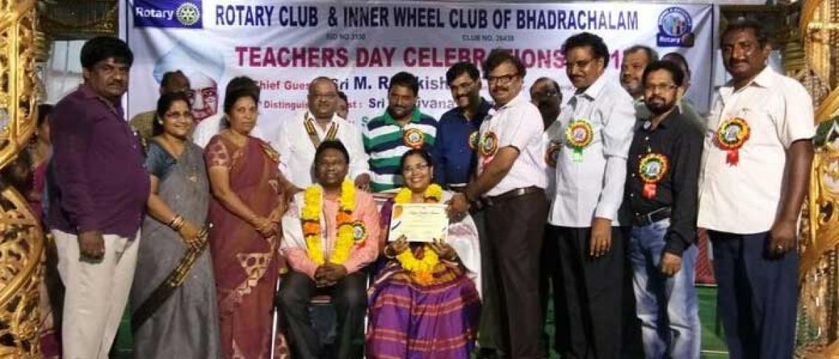 21 best teachers feted on Teachers Day in Bhadrachalam