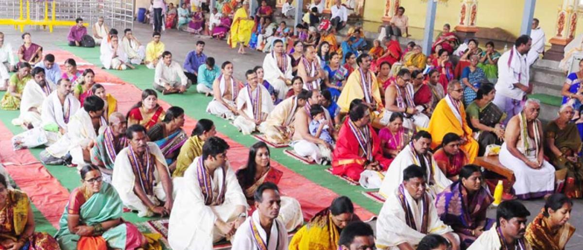 Special pujas performed at Bhadradri to mark Pushyami