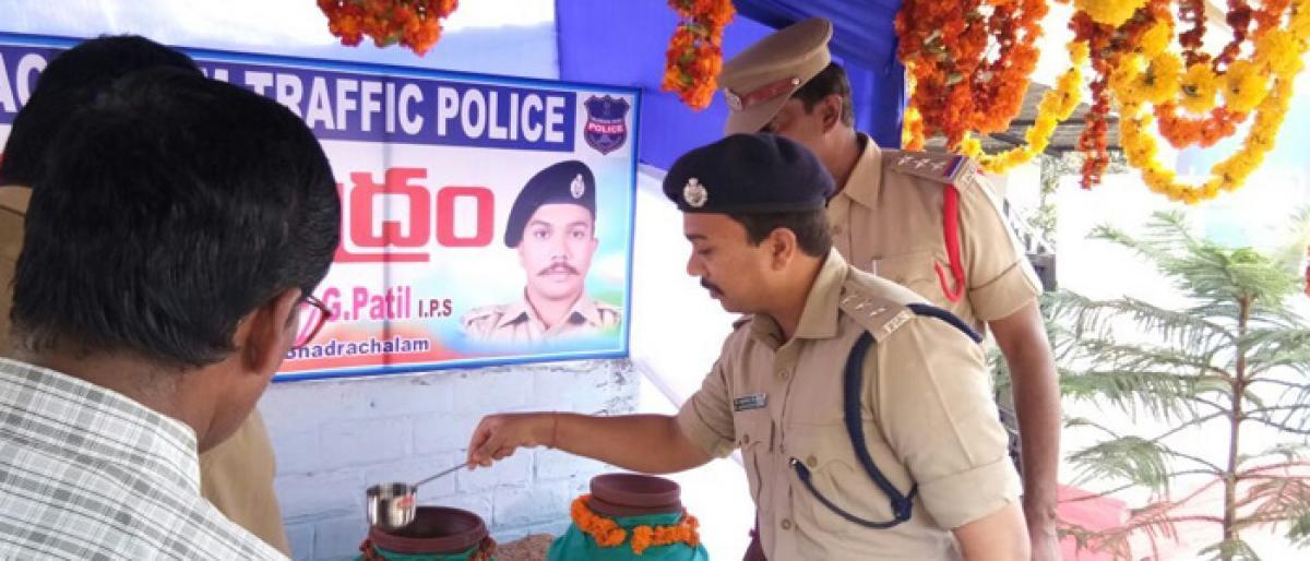 Bhadrahalam ASP inaugurates water kiosk