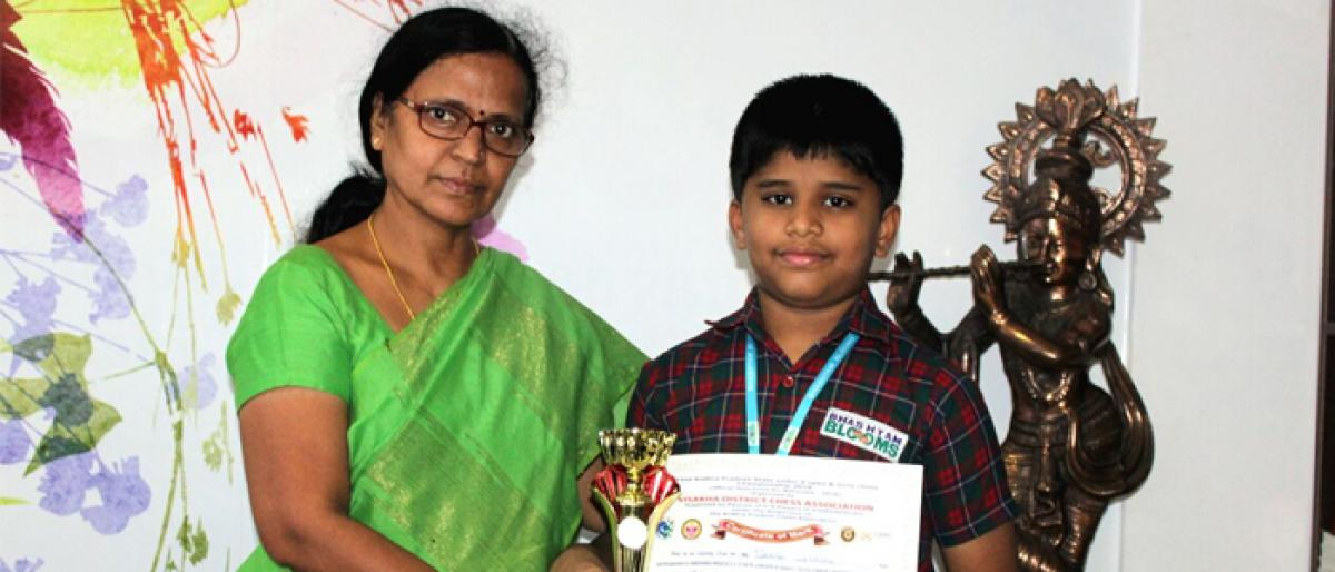 Bhashyam student bags gold medal under the aegis of Vizag Chess Association