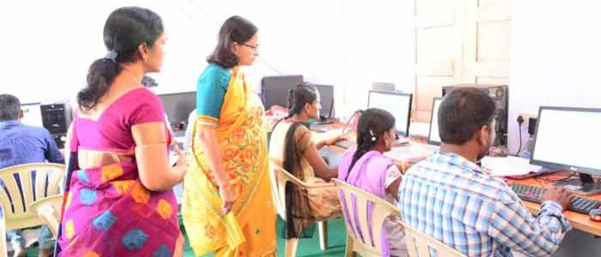 Collector inspects digitisation of land records