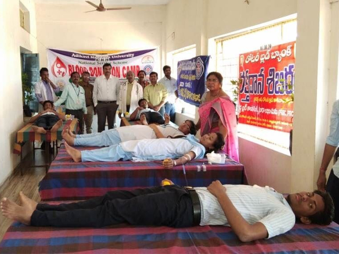 Aditya students donate blood at Atchampeta village
