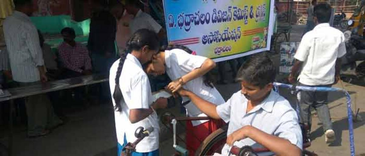 Blood group identification camp held