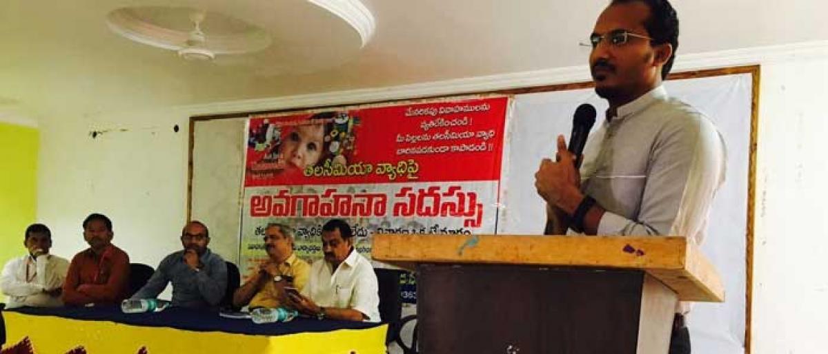 Awareness programme on Thalassemia held