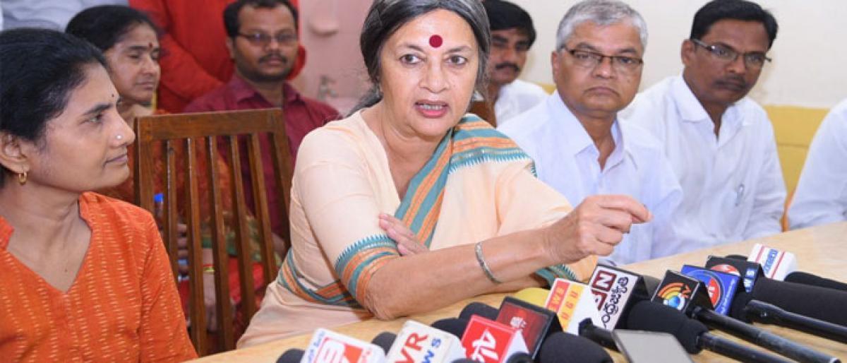 Brinda Karat condemns police firing on Dalit activists