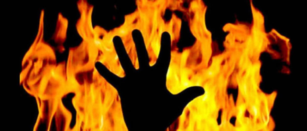 Four of a family burnt alive