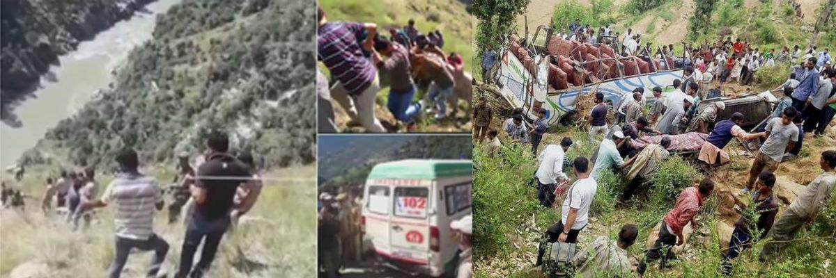 14 die as bus falls into gorge in J&K