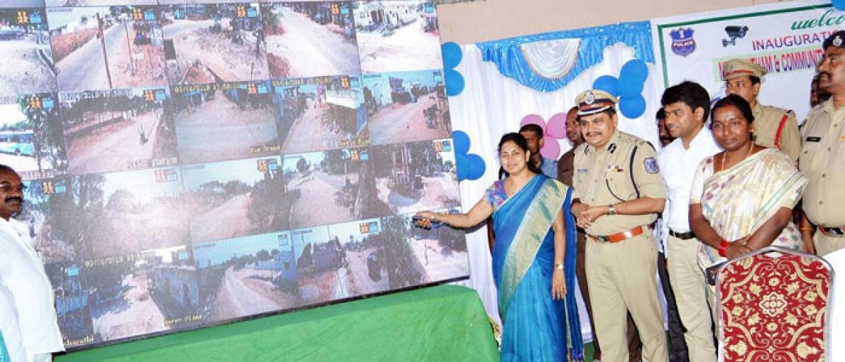 CCTV cameras installed in Athmakur mandal