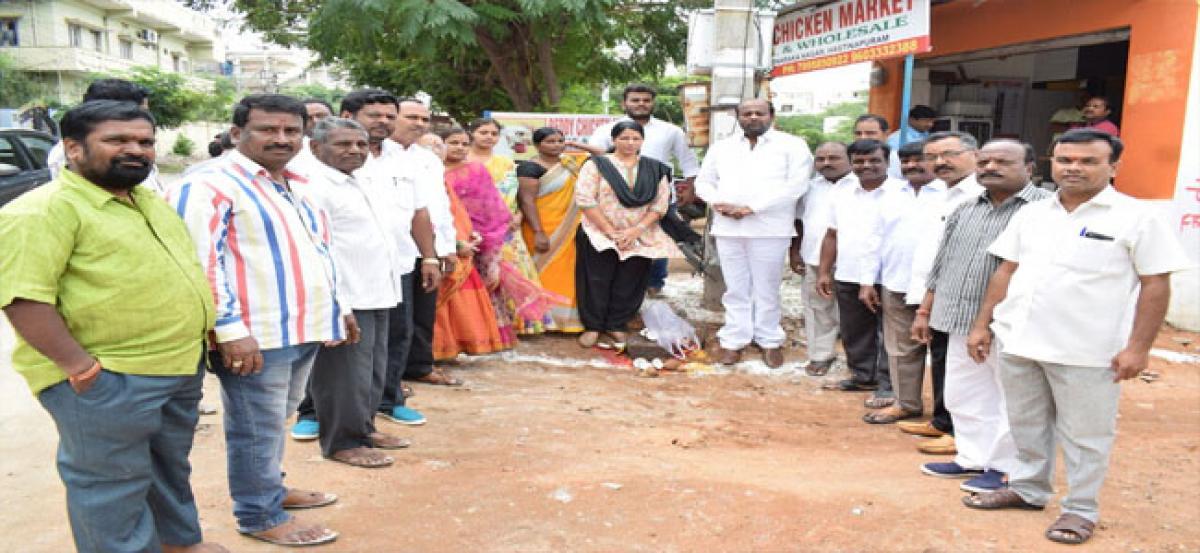 CC road works at Dwarka Nagar begins