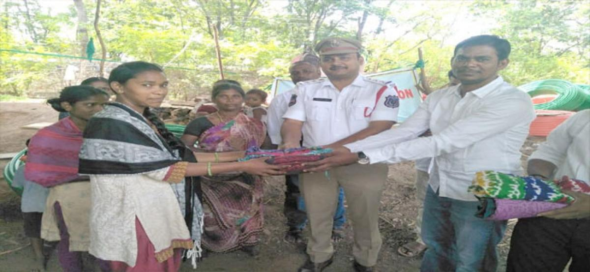 Clothes distributed to poor