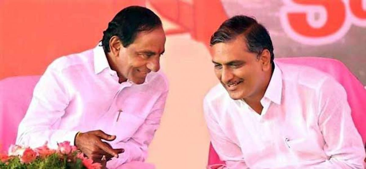 CM KCR and Harish Rao file nomination papers