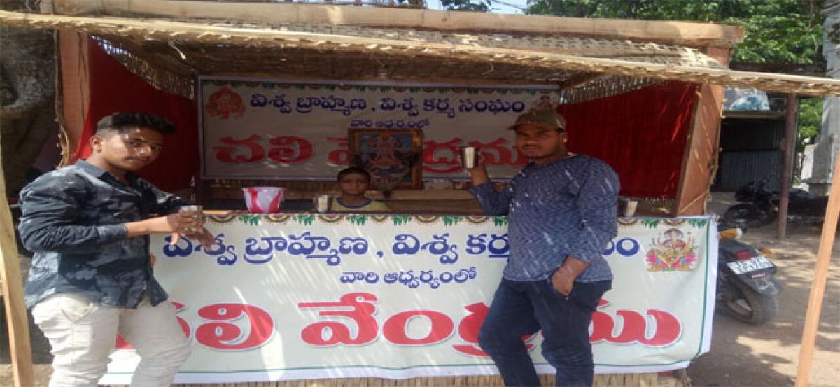 Drinking water booths spring up one month early in Pargi