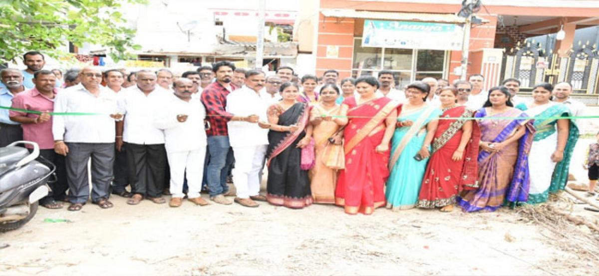Corporator inaugurates newly laid road