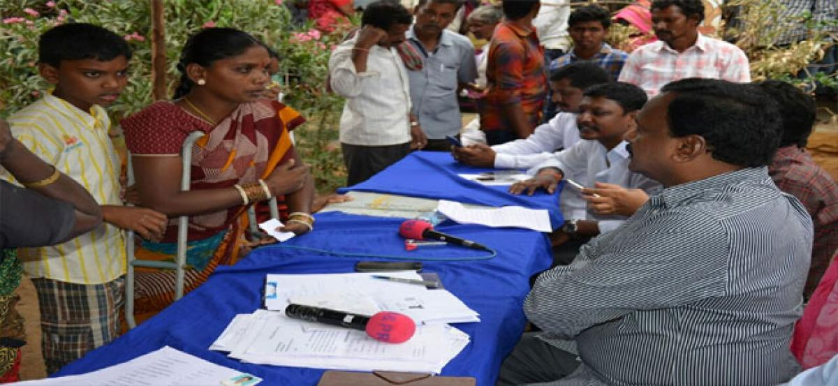 Collector resolves public issues by camping at village