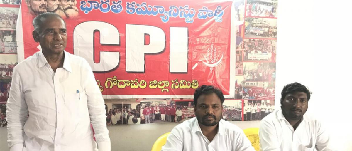 CPI to organise Yatras to protect rights of SC,STs in Kakinada