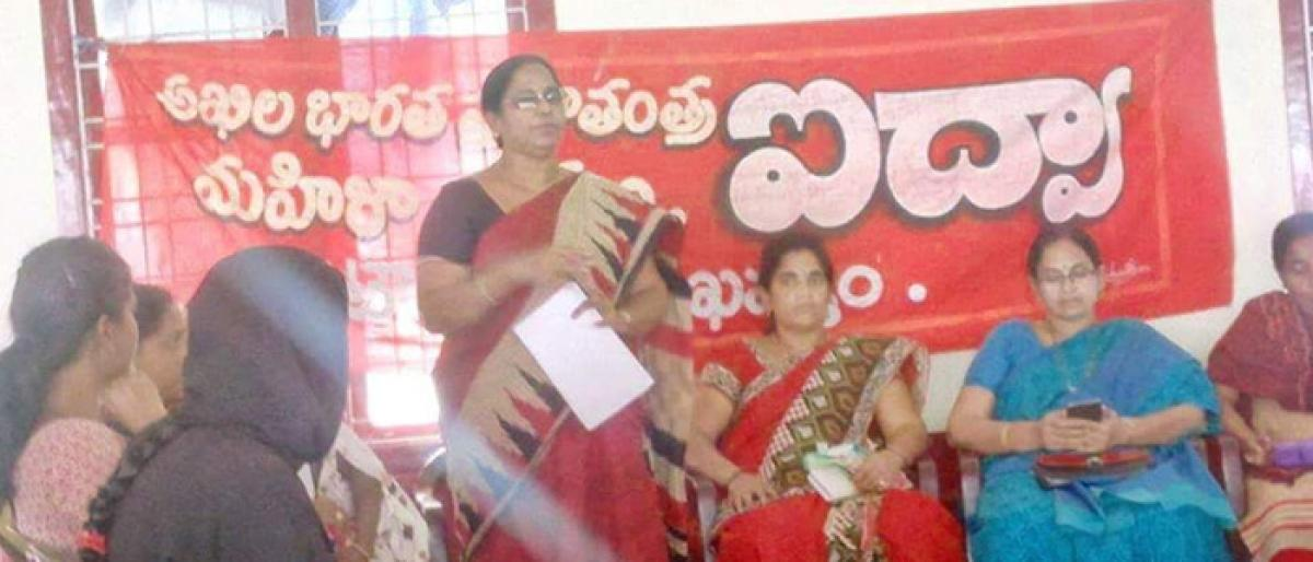 AIDWA to highlight women's issues at CPM meeting in Khammam
