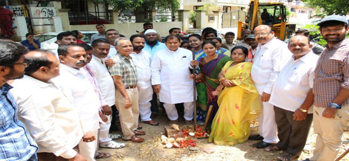 Chintala lays foundation for development works