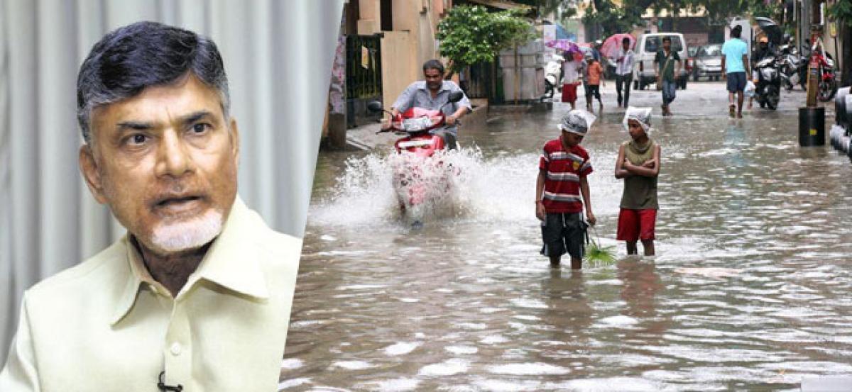 Chandrababu Alerts Officials On Heavy Rains In Coastal Andhra