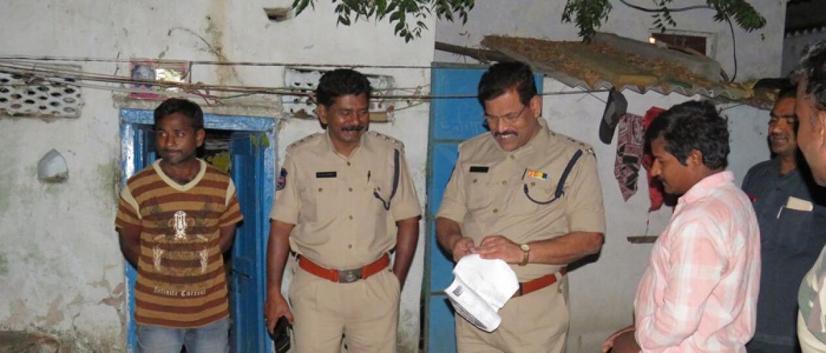 Ganja peddler held during cordon & search operation in Choutuppal