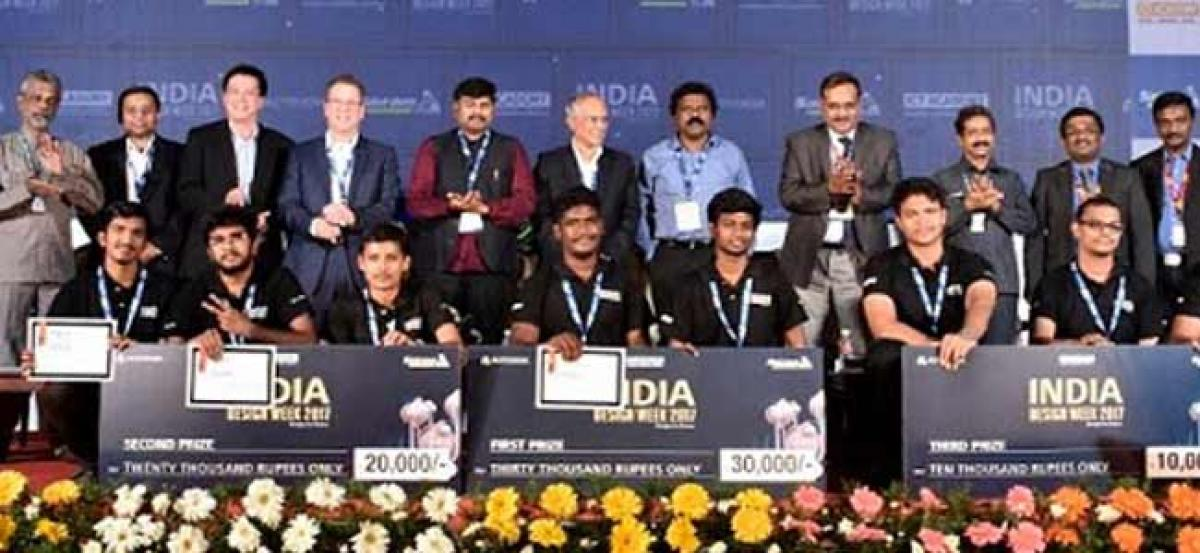 City students win India Design Week 2017 for e-waste recycler design