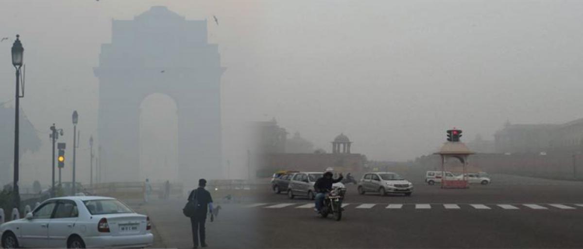 Cool, misty morning in Delhi