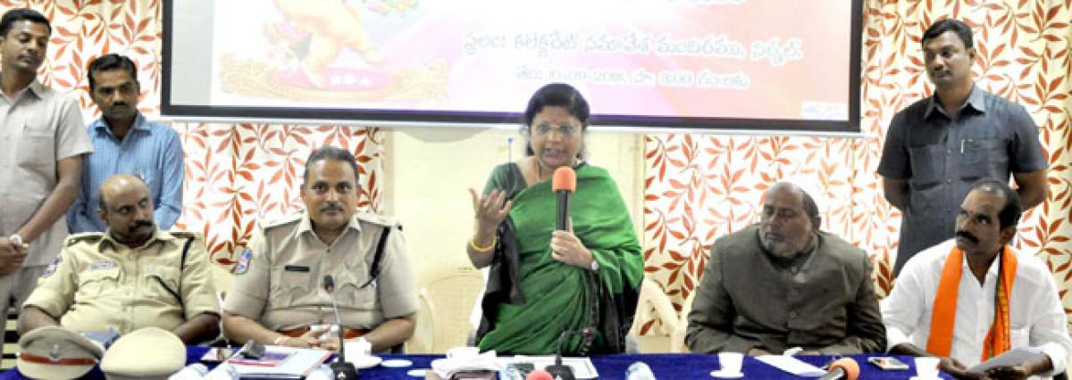 Collector for peaceful conduct of Ganesh fest