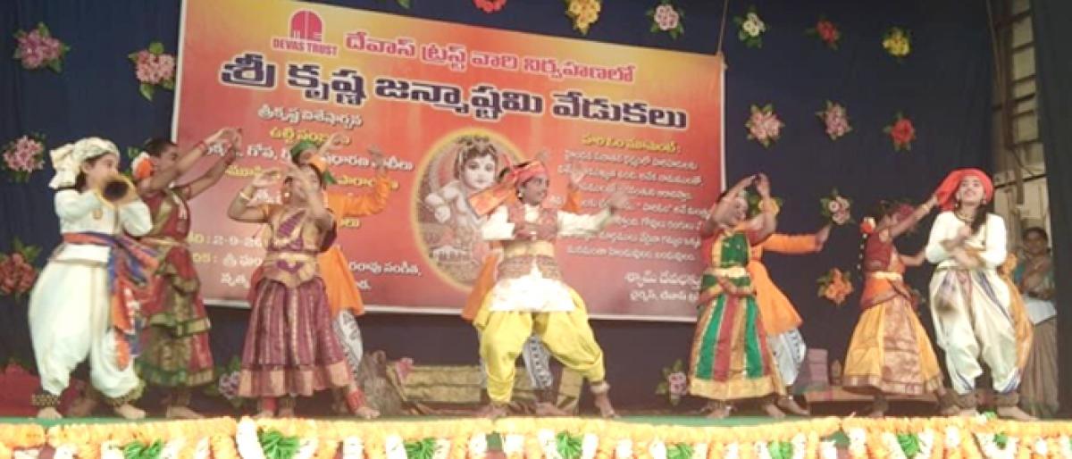 Colourful events mark Krishna Janmashtami in Vijayawada