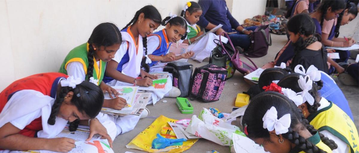 Painting contest, art expo for children organised in vijayawada