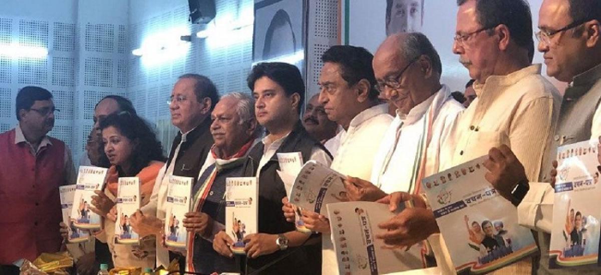 Focus On Loan Waivers, Agriculture On Congress Madhya Pradesh Manifesto